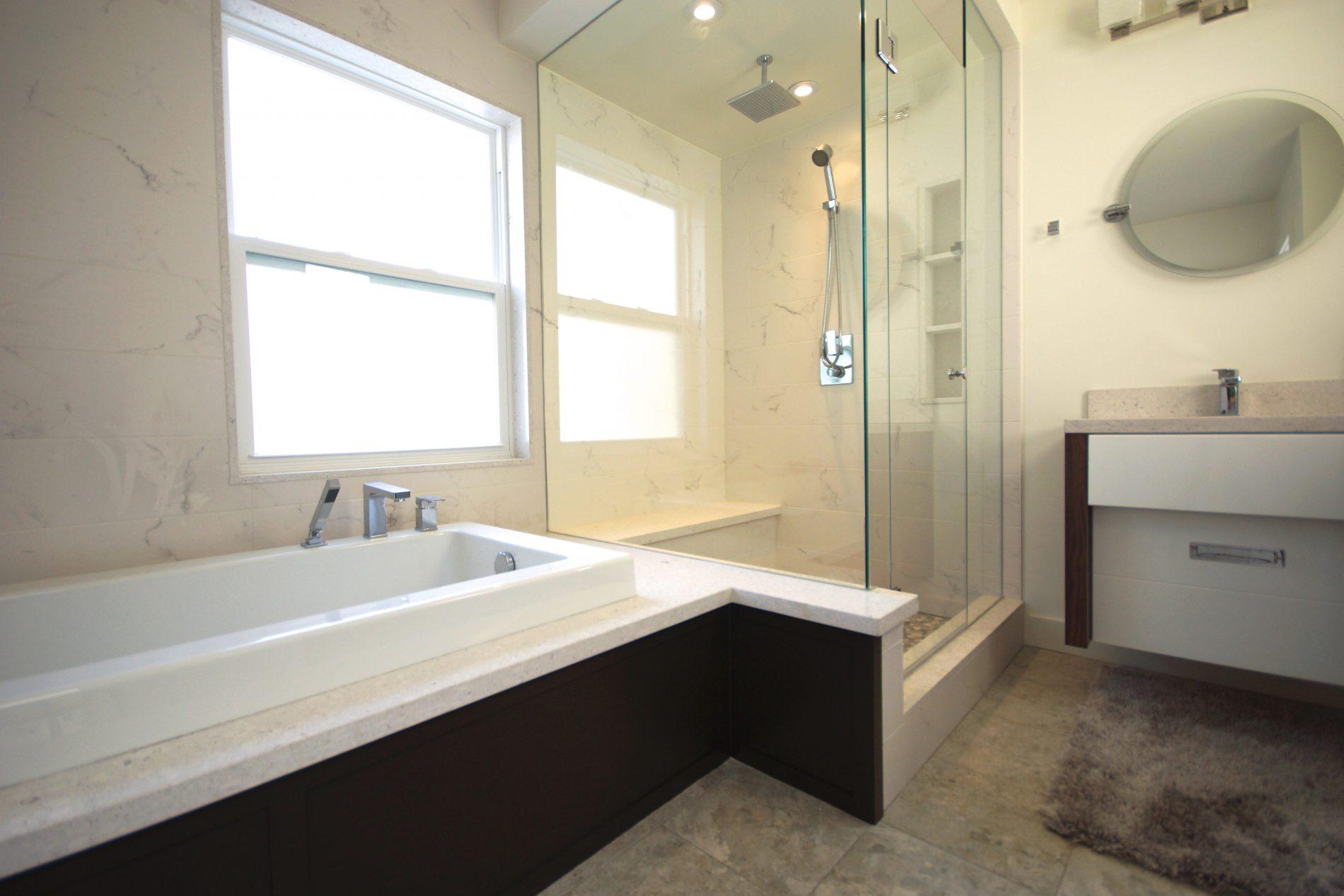 Leslieville Toronto Modern Ensuite Bath - Featured Image