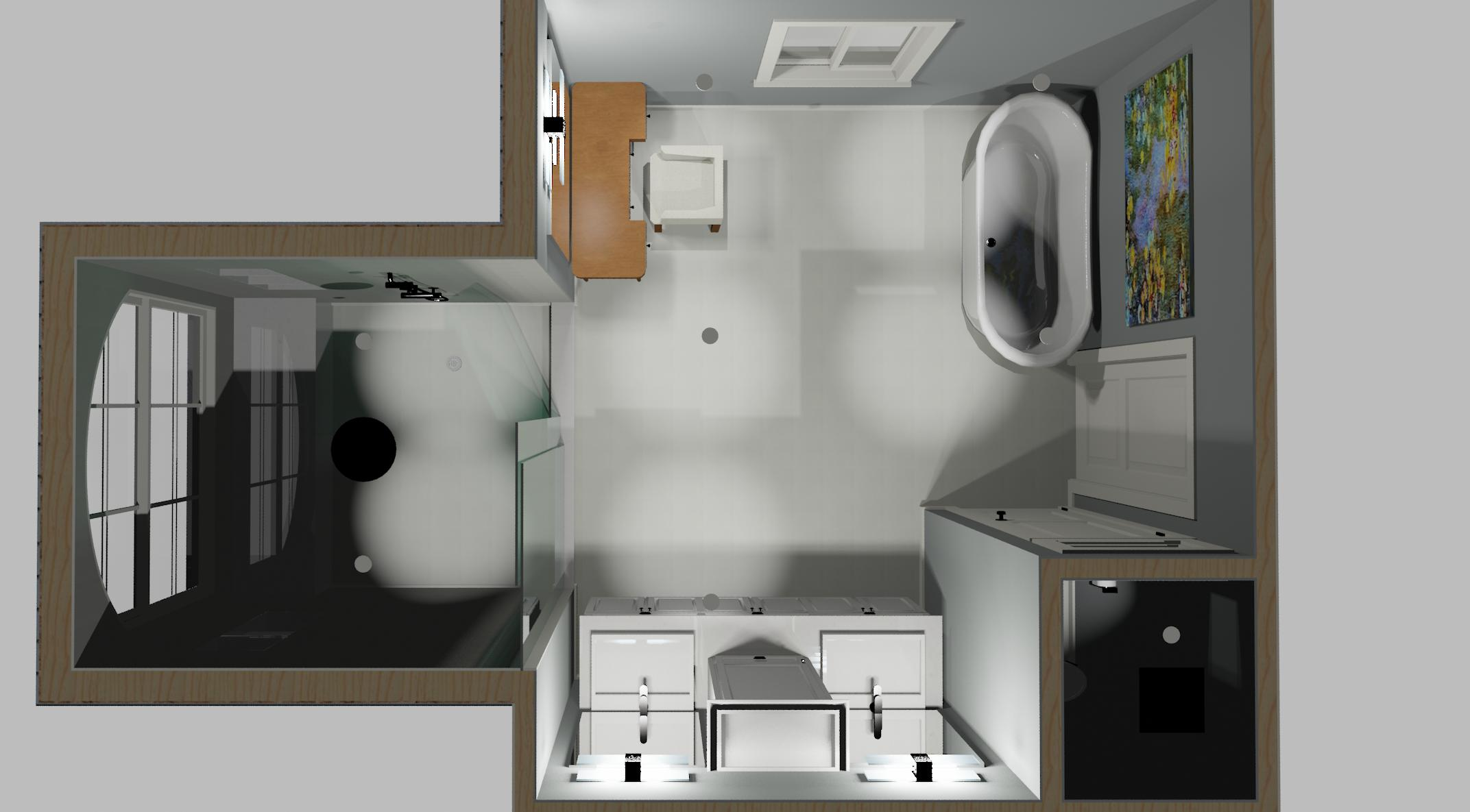 Chief architect 3d bathroom renderings ashton renovations for Bathroom renovations 3d