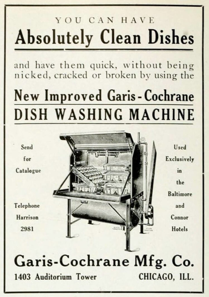Garis Cochrane Dishwasher 1909